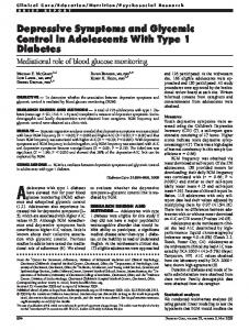 Depressive Symptoms and Glycemic Control in Adolescents With Type ...