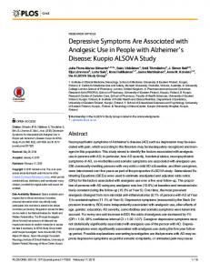 Depressive Symptoms Are Associated with
