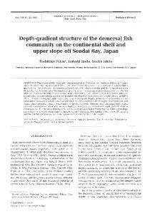 Depth-gradient structure of the demersal fish ... - Inter Research