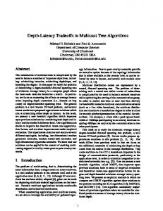 Depth-Latency Tradeoffs in Multicast Tree Algorithms - Semantic Scholar