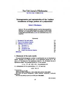 Derangements and asymptotics of the Laplace transforms of large