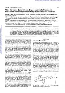 Derivatives containing Coordinated p-Substituted ...