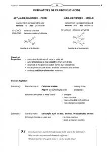 DERIVATIVES OF CARBOXYLIC ACIDS - Knockhardy.org.uk