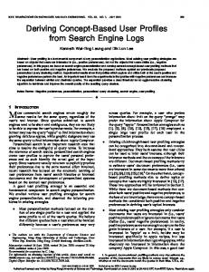 Deriving Concept-Based User Profiles from Search Engine Logs