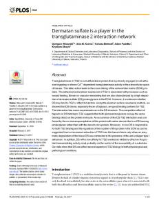 Dermatan sulfate is a player in the transglutaminase 2 ... - PLOS