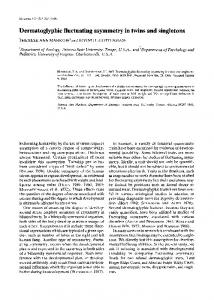 Dermatoglyphic fluctuating asymmetry in twins ... - Wiley Online Library
