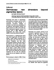 Dermoscopy: new dimensions beyond pigmentary lesions - CiteSeerX