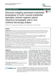 Descemet stripping automated endothelial keratoplasty in Fuchs ...