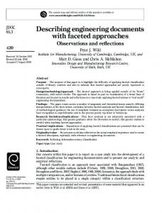 Describing engineering documents with faceted ... - Semantic Scholar