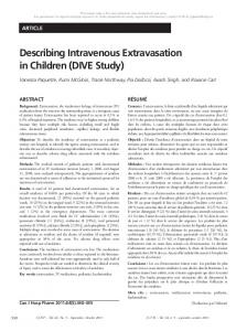 Describing Intravenous Extravasation in Children ... - Semantic Scholar