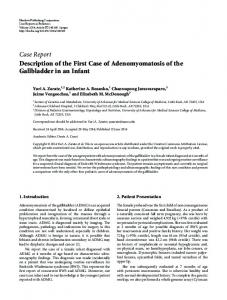 Description of the First Case of Adenomyomatosis of the Gallbladder ...