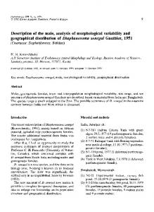 Description of the male, analysis of morphological variability and ...