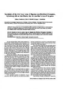 Description of the thir iption of the thir iption of the third instar ... - SciELO