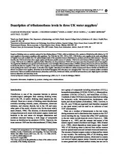 Description of trihalomethane levels in three UK water suppliers - Nature