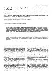 Description of two new karyotypes and cytotaxonomic ... - CiteSeerX