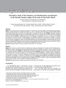 Descriptive study of the frequency of nontuberculous mycobacteria in ...