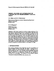 DESIGN, ANALYSIS AND OPTIMIZATION OF V-DIPOLE AND ITS ...