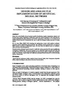 design and analog vlsi implementation of artificial neural network