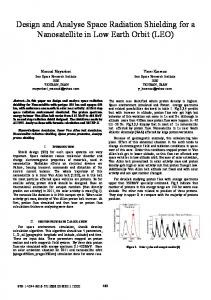 Design and Analyse Space Radiation Shielding for a ... - IEEE Xplore