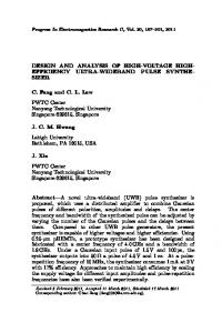 DESIGN AND ANALYSIS OF HIGH-VOLTAGE HIGH- EFFICIENCY ...