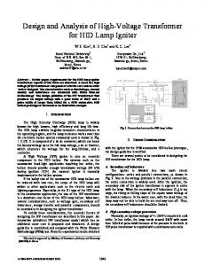 Design and Analysis of High-Voltage Transformer for ...
