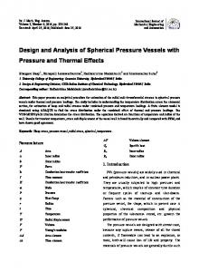 Design and Analysis of Spherical Pressure Vessels