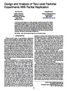 Design and Analysis of Two-Level Factorial Experiments With Partial ...
