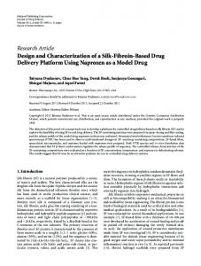 Design and Characterization of a Silk-Fibroin-Based Drug Delivery ...