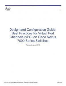 Design and Configuration Guide: Best Practices for Virtual ... - Cisco
