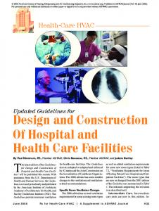 Design and Construction Of Hospital and Health Care Facilities