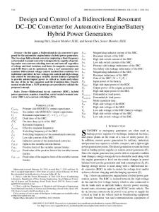 Design and Control of a Bidirectional Resonant DC& ... - IEEE Xplore