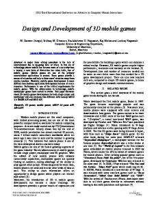 Design and Development of 3D Mobile Games - IEEE Xplore