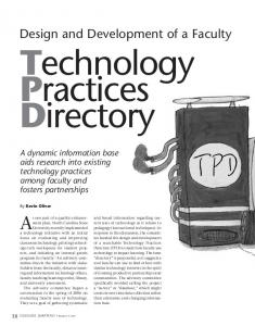 Design and Development of a Faculty Technology Practices Directory