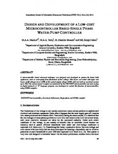 design and development of a low-cost