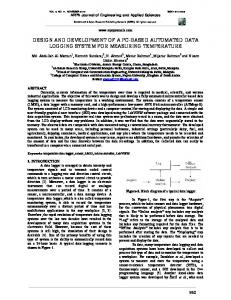 Design of a low cost multi channel data logger arpn journals design and development of a pc based automated arpn journals sciox Image collections