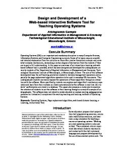 Design and Development of a Web-based ... - Semantic Scholar