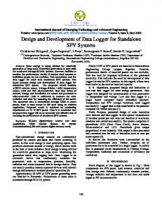 Design of a low cost multi channel data logger arpn journals design and development of data logger for standalone spv systems sciox Image collections
