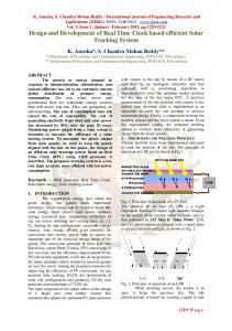 Design and development of low cost pc based real time design and development of real time clock based efficient solar sciox Image collections