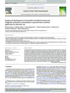Design and development of sustainable remediation ...