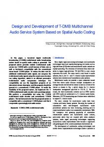 Design and development of low cost multi channel usb data design and development of t dmb multichannel audio service sciox Image collections