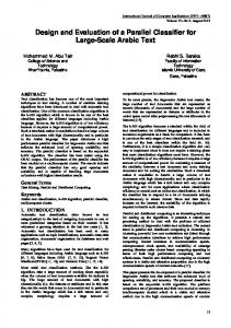 Design and Evaluation of a Parallel Classifier for ... - Semantic Scholar