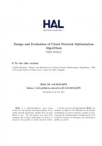 Design and Evaluation of Cloud Network Optimization