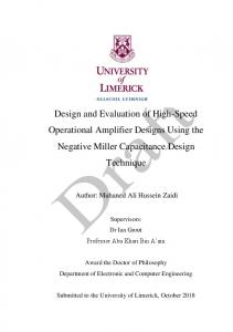 Design and Evaluation of High-Speed Operational