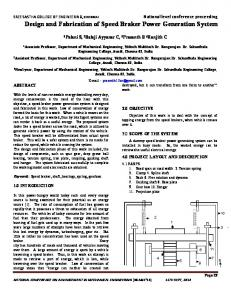 Design and Fabrication of Speed Braker Power