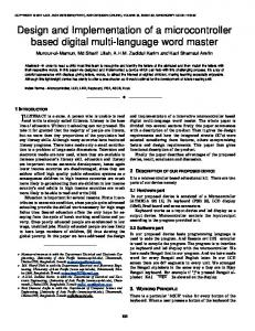 Design and Implementation of a microcontroller based digital multi ...