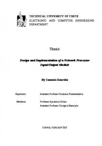 Design and Implementation of a Network Processor Input ... - Chalmers