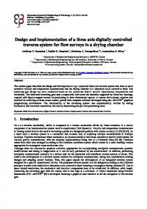 Design and implementation of a three axis digitally controlled traverse