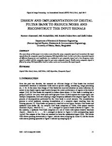 design and implementation of digital filter bank to ... - Aircc Digital Library