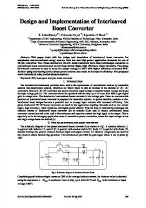 Design and Implementation of Interleaved Boost Converter