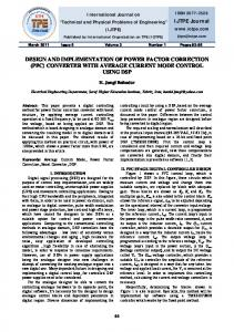 design and implementation of power factor correction (pfc) converter